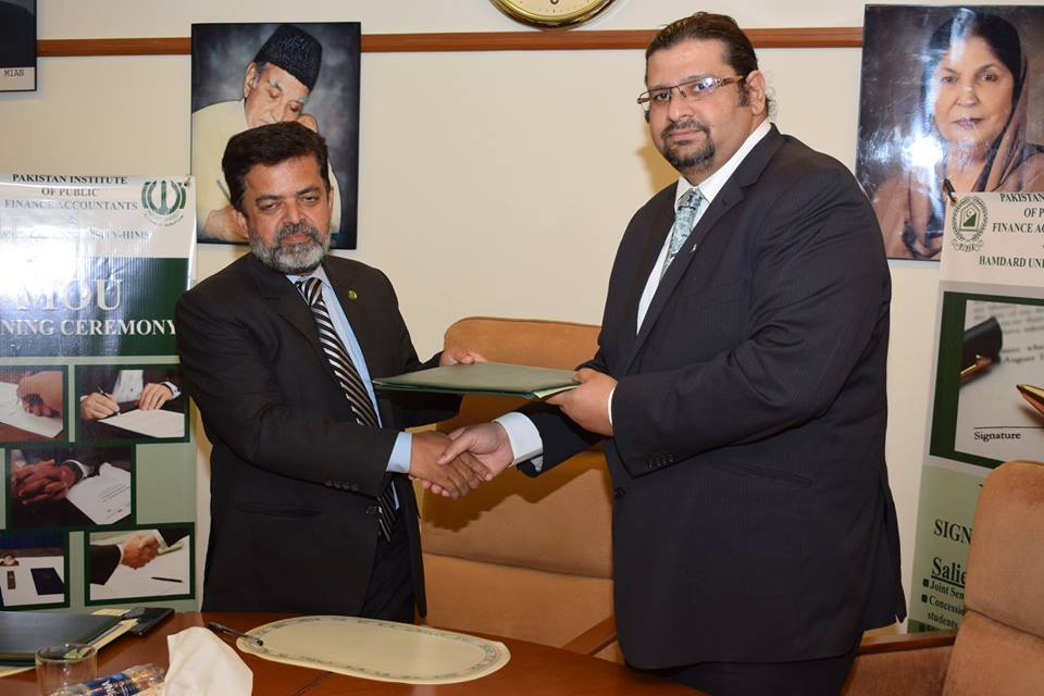 MoU Signing with Hamdard University