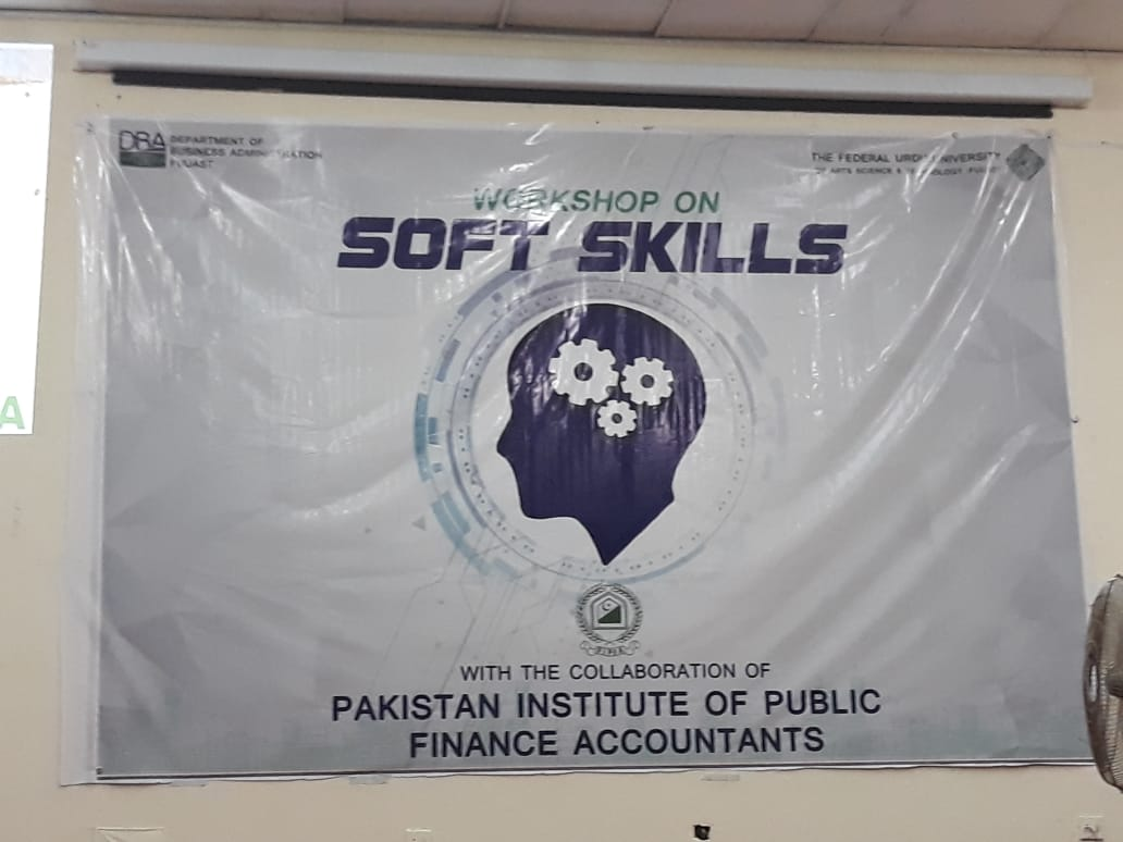 Seminar on Soft Skills at Federal Urdu University, Karachi