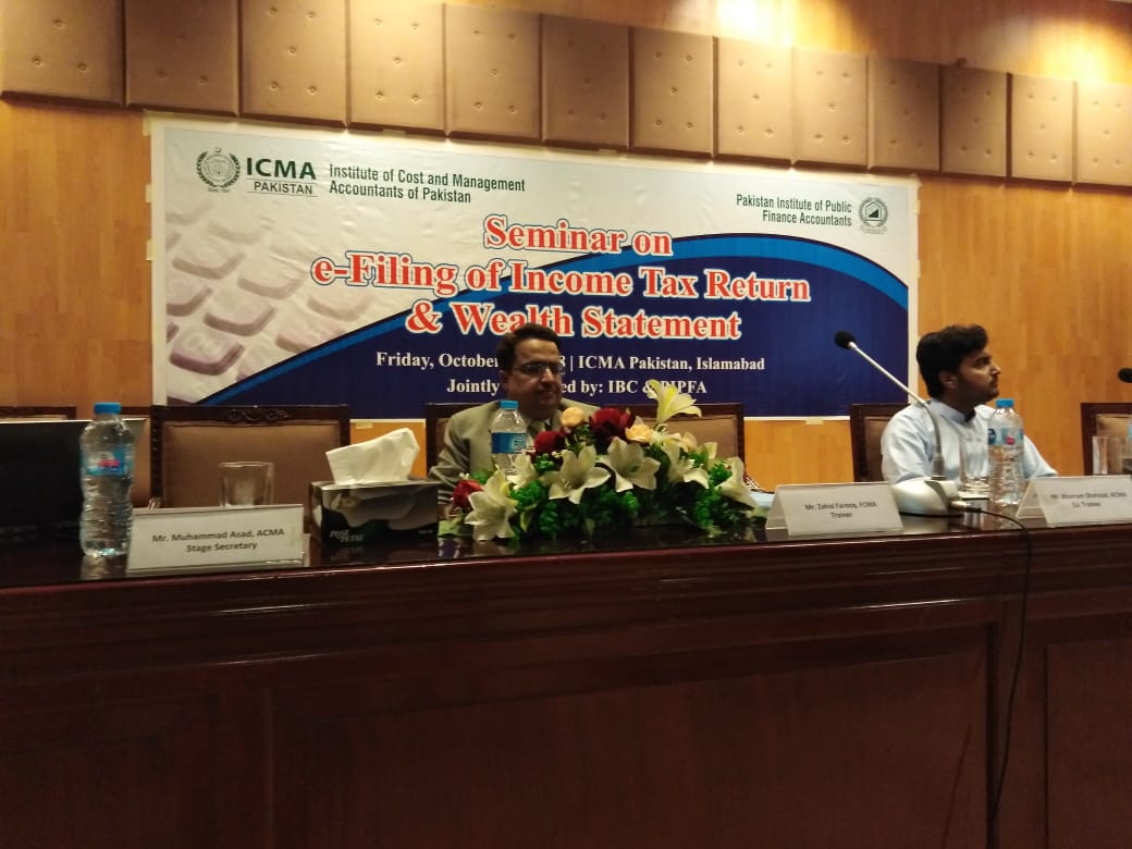 Seminar on E Filing of Income Tax Return & Wealth Statement - PIPFA Islamabad