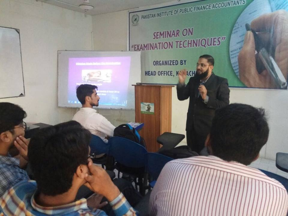 Seminar on Examination Techniques - Summer 2018 -PIPFA Karachi Center