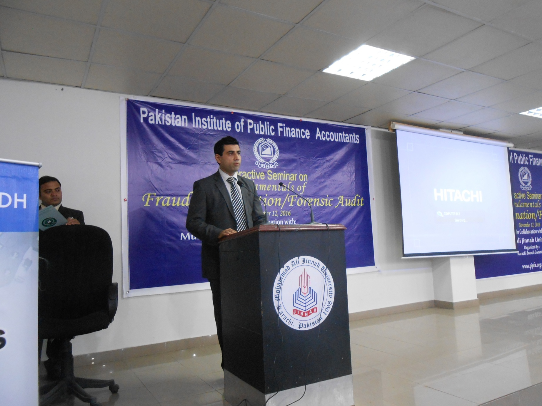 Mr. Imran Umer Chapra welcome the audience