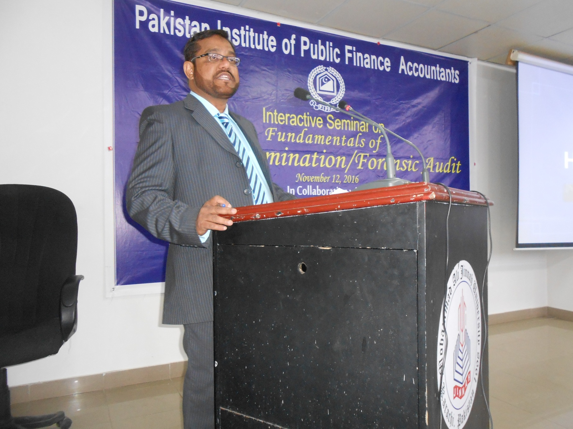 Mr. Tariq Hussain, Session Chairman sharing his experiences with audience